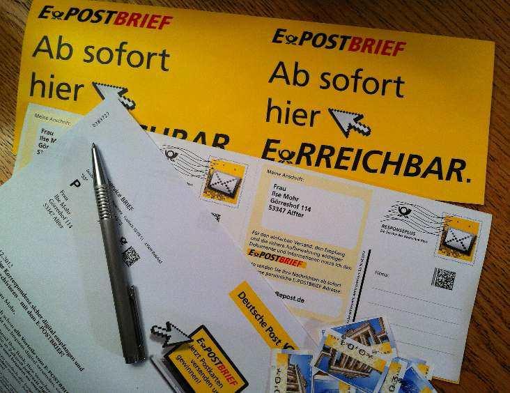 Postkarten für digitale Erreichbarkeit
