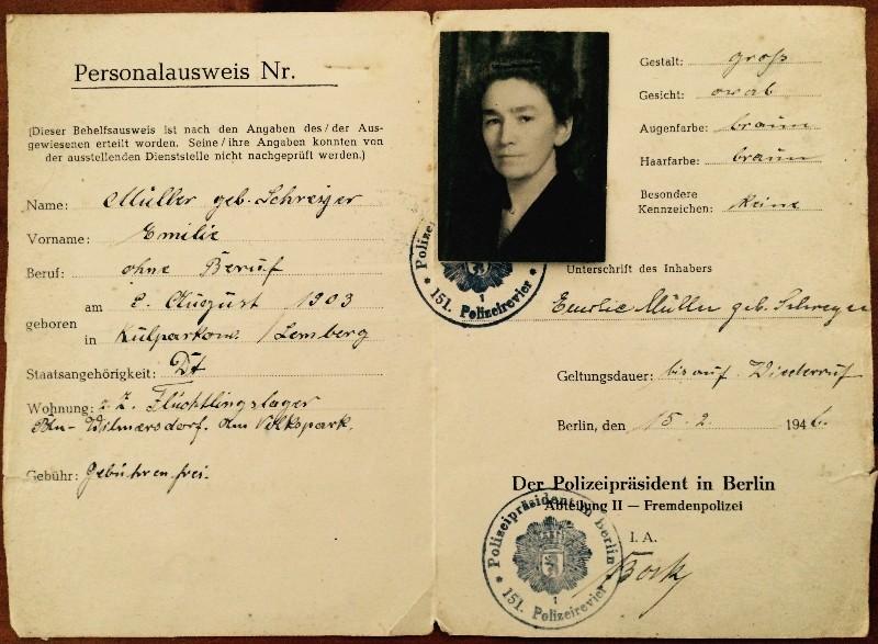 Meine Oma als Flüchtling 1946 in Berlin